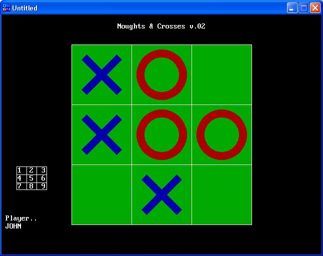 Tic Tac Toe (Knoughts and Crosses)